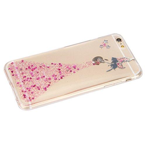 iPhone 6S Plus Hülle, iPhone 6 Plus Hülle, iPhone 6 Plus/6S Plus Silikon Schutz Handy Hülle Kratzfeste Tasche Handyhülle [Mit 1 X Frei Stylus Stift ], SainCat iPhone 6 / 6S Gel Case Weiche Bling Diama Engel-Rosa