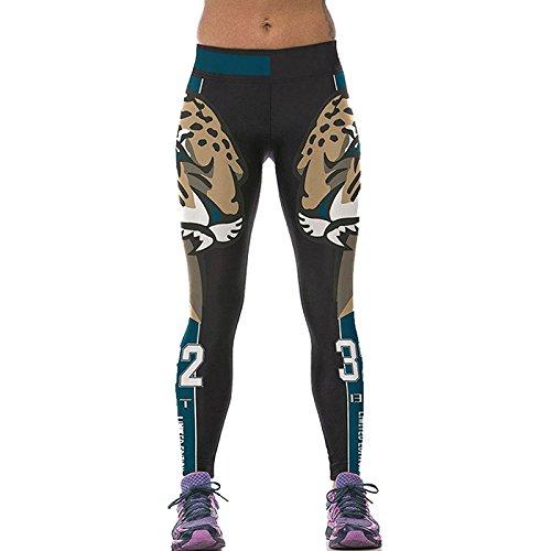 Sexy femmes automne Leggings Pantalon sport femme imprimé numérique Lion Forte Leggings Leggins Modèle de numéro Tro Fitness KYK1133...