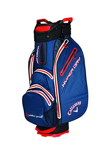 Callaway 2019 Hyper Dry Cart Bag Golf, Unisex, 5119024, Navy/Titanium/Orange, Einheitsgröße