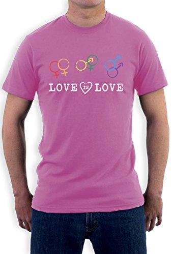 Love Is Love - Gleichberechtigung Symbole Farbig T-Shirt Rosa