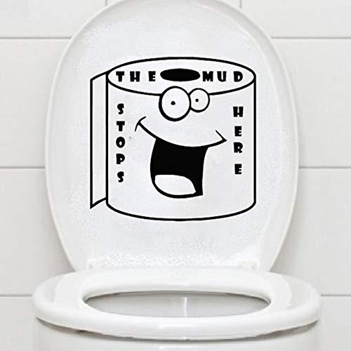 QWERGLL Wandaufkleber Lächeln Gesicht toilettenpapier wc Aufkleber Worte Schalter Wandaufkleber Vinyl Aufkleber Wohnkultur Aufkleber wasserdicht Poster Papier (Dschungel-wc-papier)