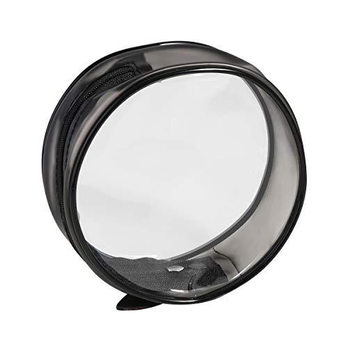 Phintory Transparent Zipper Trousse de toilette Pochette pour bagage de voyage Porte-bagages transparent Sac de voyage conforme pour l'aéroport, cosmétique, Trousses de maquillage
