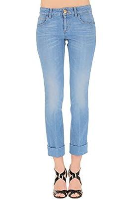 Gucci Women's 381279XD3144007 Light Blue Cotton Jeans