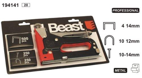 Handtacker 150mm 3 in 1 Heftklammern und Nägel Tacker Nagler Klammergerät