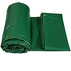 XUEYAN Lona de alta resistencia antienvejecimiento Trampa de lona Cubiertas de la lámina del camión Cobertizo Impermeabilizante Espesar Aislamiento impermeable Carpa de lona Empalme Toldo Sombra verde