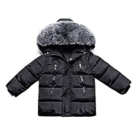 a79d32fb8 Gaorui Kids Boys Hooded Puffer Coat Faux Fur Padded Jackets Thick Winter  Outwear Age 1-8 Years
