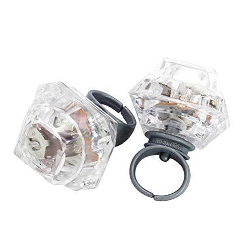 YeahiBaby LED Diamant Ring Große Blinkende Bunte Finger Spielzeug für Weihnachtsfeier 10 stücke