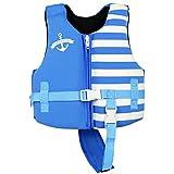 Gogokids Bambino Gilet/Giubbotto da Nuoto con Galleggiabilità Regolabile Neoprene Costume da Bagno 2-8 Anni