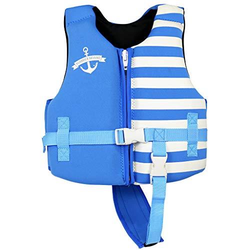 Gogokids Bambino Gilet/Giubbotto da Nuoto con Galleggiabilità Regolabile Neoprene Costume da Bagno 1-8 Anni