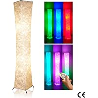 Creative Standard Lamps, Deessin Modern Twisted Design Dimmable Color Changing Soft Light Floor Lamps for Living Room Bedroom Party Decor - with 2 Smart LED Bulbs, 20×20×132cm