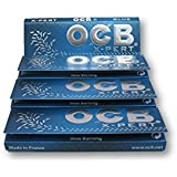OCB X-PERT Blue Single Regular Mini Rolling Papers Cigarette Papers Smoking Papers Pack Of 4 Booklets From SUDESH ENTERPRISES