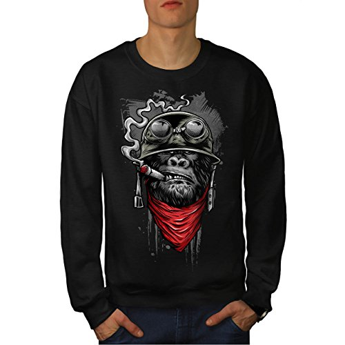 Capri-baumwoll-leibchen (Gorilla solider Mode Herren M Sweatshirt | Wellcoda)