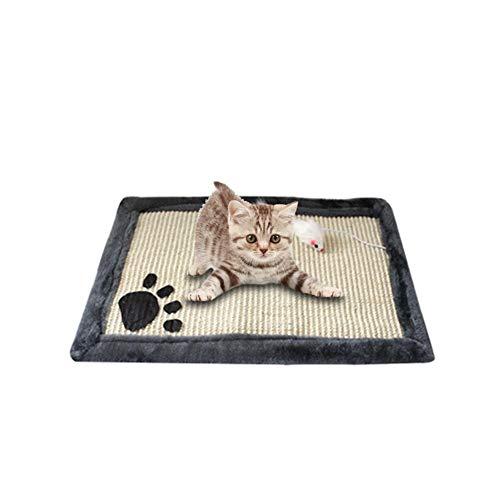 Kratzmatte Für Katzen Sisal Kratzmatte Kratzteppich Katze Kratzbrett Sisal Matten für Kratzdecke Verschleißfest Bissfestes Kratzkissen Schleifklauen Spielen Haustier Katzen 45x30cm