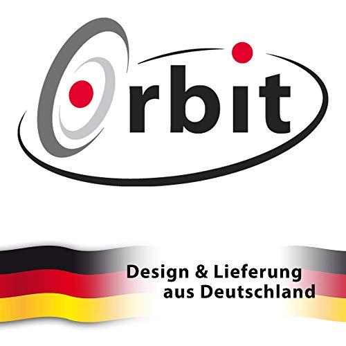 Edelstahl Windspiel – STRUDEL 300 – lichtreflektierend – Durchmesser: 30cm – inkl. Aufhängung und Glaskugel - 4