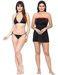 82e62ae625 Klamotten Valentine s Gift for Girlfriend Wife Babydoll and Bikini Set Women  Nightwear Nightdress