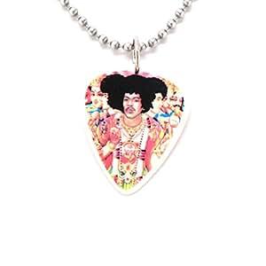Jimi Hendrix médiator collier Rocher axe Bold as Love album trippy Inde