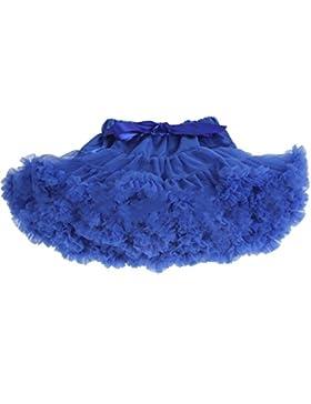 Honeystore Falda Enagua danza disfraces de Tutus para bebé de color sólido azul azul real 2-4 Years (label size...