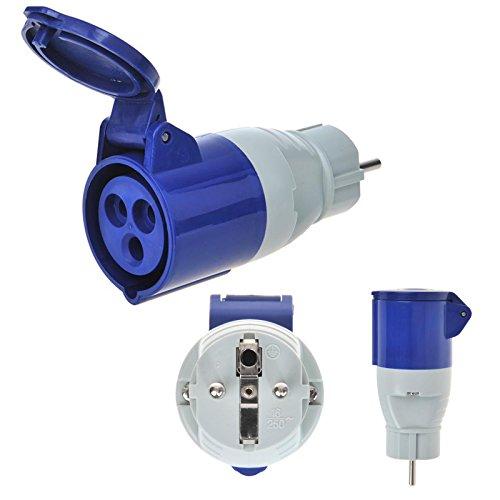 Preisvergleich Produktbild APT CEE Adapter Schuko auf CEE 200-250V,  16A,  3polig,  12 cm,  Ip44 ideal für Camping