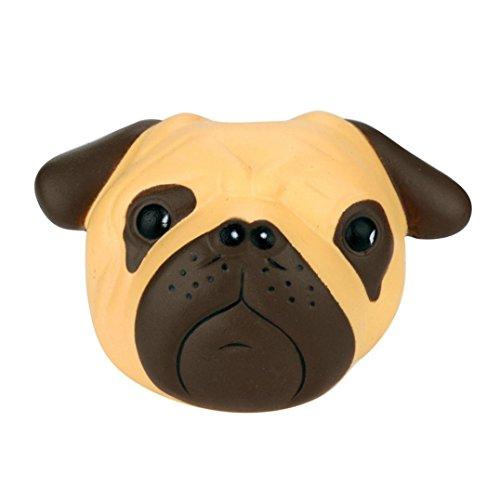 Spielzeug Hund, Hirolan Exquisit Spaß Verrückt Hund Duftend Matschig Charme Langsam Steigend 8 cm Simulation Kind Spielzeug Super weich Stress Spielzeug (11x3x8cm, Gelb) -