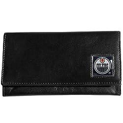 NHL Edmonton Oilers Genuine Leather Women's Wallet