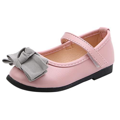 Allegorly Festliche Kinder Mädchen Prinzessin Ballerinas Schuhe Bogen Blume Dekoration Einzelne Schuhe Lederschuhe Tanzschuhe Sandalen für Partys und Freizeit in Vielen ()
