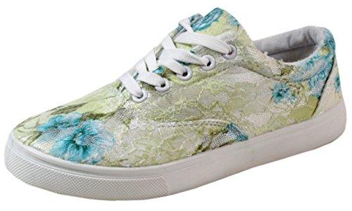 trendBOUTIQUE - Sneaker Donna Multicolore (verde/giallo)