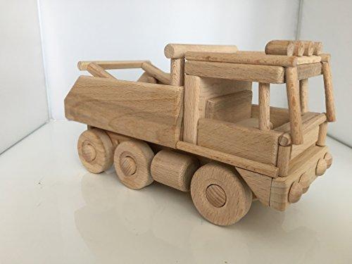 Superbe Grand camion à 6 roues tout terrain de rallye PARIS DAKAR en bois - jouet bois magnifique - Artisanat Véritable