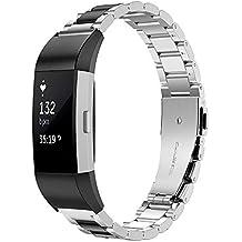 Simpeak Compatible Fitbit Charge 2 Correa (5.5-8.1 Pulgadas), Correa de Acero