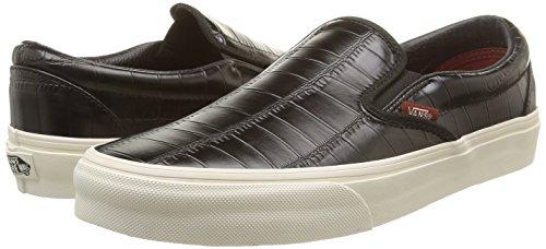Vans VZMRFJH, Unisex Adults' Low-Top Sneakers, Black (Croc Leather – Black), 6 UK (39 EU)