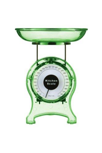Premiere Housewares 807225 Bilancia da Cucina, 1 Kg, Verde Trasparente