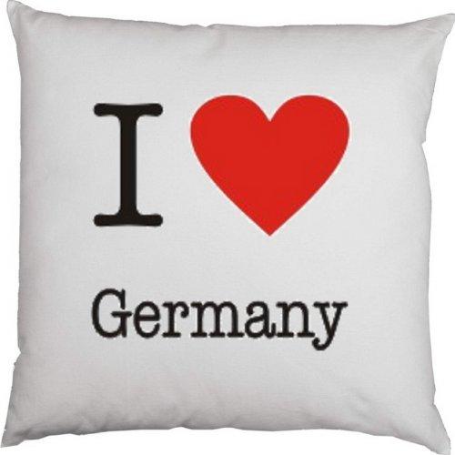 Kissen mit Füllung, Dekokissen, Couchkissen, Deko mit Herz - I love Germany