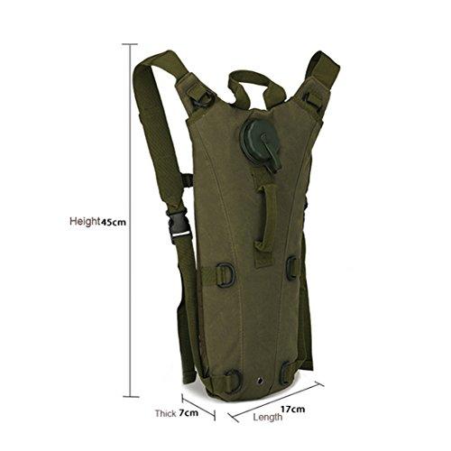 Camouflage Military Hydration Wasser Reservoir Rucksack mit 3L Blase pack Bag Sport Outdoor Klettern Laufen Wandern Radfahren Camping Jagd von Hi suyi ACU