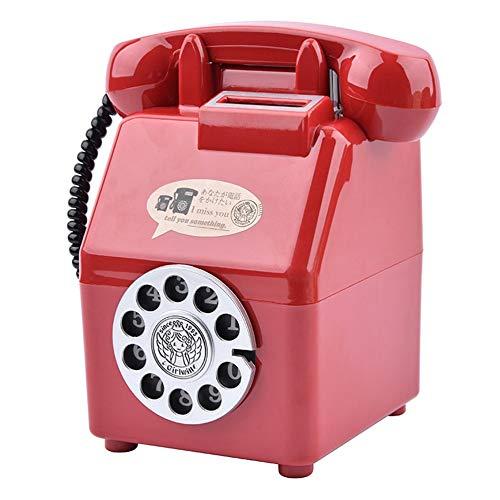 gfjfghfjfh Telefon geformte Piggy Bank-Münzen-Aufbewahrungsbehälter-Behälter Geldmünze Sparschwein Geschenk Geld-Glas Persönlichkeit Ornament Piggy Bank