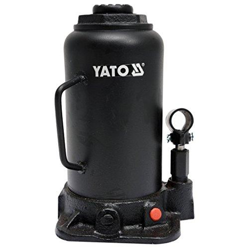 Este gato de botella YATO es un gato hidráulico profesional con un sistema de válvulas que dispensa con precisión el flujo de aceite. Con una capacidad de elevación de 20 toneladas, este gato de botella tiene un rango de elevación de 242 mm a 452 mm ...