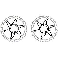 MagiDeal 2pcs Rotores de Freno de Disco de Bicicleta Bici MTB de Acero Inoxidable 12pcs Pernos T25 Ciclismo