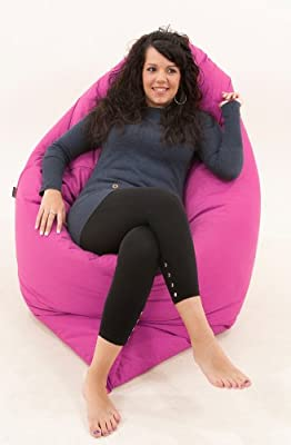 RAVIOLI GIANT - HOT PINK Bean Bag Chair Indoor / Outdoor Beanbag Floor Cushion