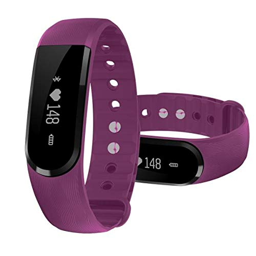 Yallylunn Bluetooth Wireless Touchable Smart Wrist Band Pedometer Schlank Bequem Einfach Zu Tragen for Android Ios