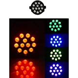 PENZA 3WX12 MULTI LED Par Flood Lights With Remote Control For Stage Lighting Multi Color Stage Lamp For DJ Club Diwali Festivals Wedding Family Party Disco Birthday Christmas