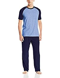 c8e44f725f95 Hanes Men s Adult X-Temp Short Sleeve Tagless Cotton Raglan Shirt and Pants  Pajamas Pjs