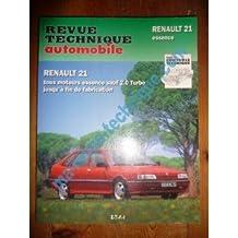RRTA0710.3 REVUE TECHNIQUE AUTOMOBILE RENAULT R21 Essence sauf 2.0l Turbo Jusqu'à Fin de fabrication