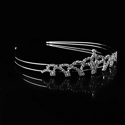 Diamantes De Imitación De Novia De La Boda Del Cristal De Diamante Diadema De Pelo Diadema Tocado