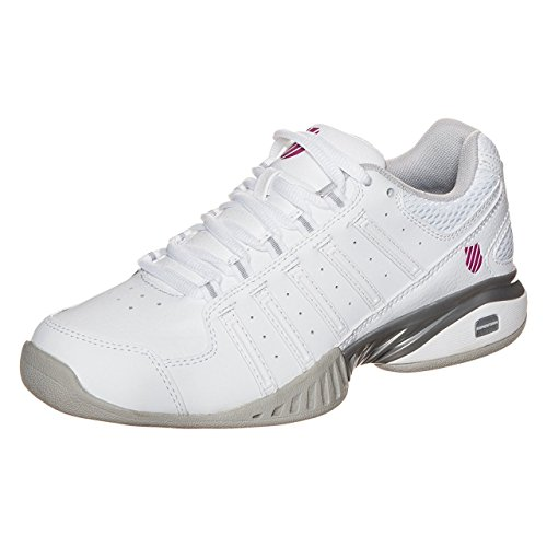 K-Swiss Performance Receiver Iii Carpet, Chaussures de Tennis Femme Blanc (White/silver/veryberry)