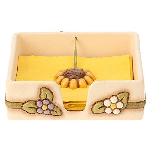 THUN Porta tovaglioli Country, in Ceramica, 26,8x23,9x8,5 cm