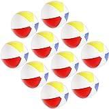com-four® 10x Wasserball, Beachball in fruchtig-frischen Farben, Ø 32 cm (Ø 32 cm - 10 Stück)