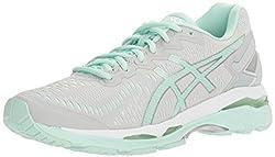 ASICS Womens Gel-Kayano 23 Running Shoe, Glacier Gray/Bay/White, 7 M US