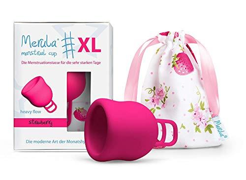 Merula Cup XL strawberry (pink) - Die Menstruationstasse für die sehr starken Tage