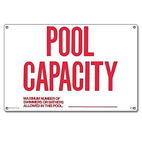 Poolmaster 40361Pool Kapazität Schild für privaten oder gewerblichen Pools