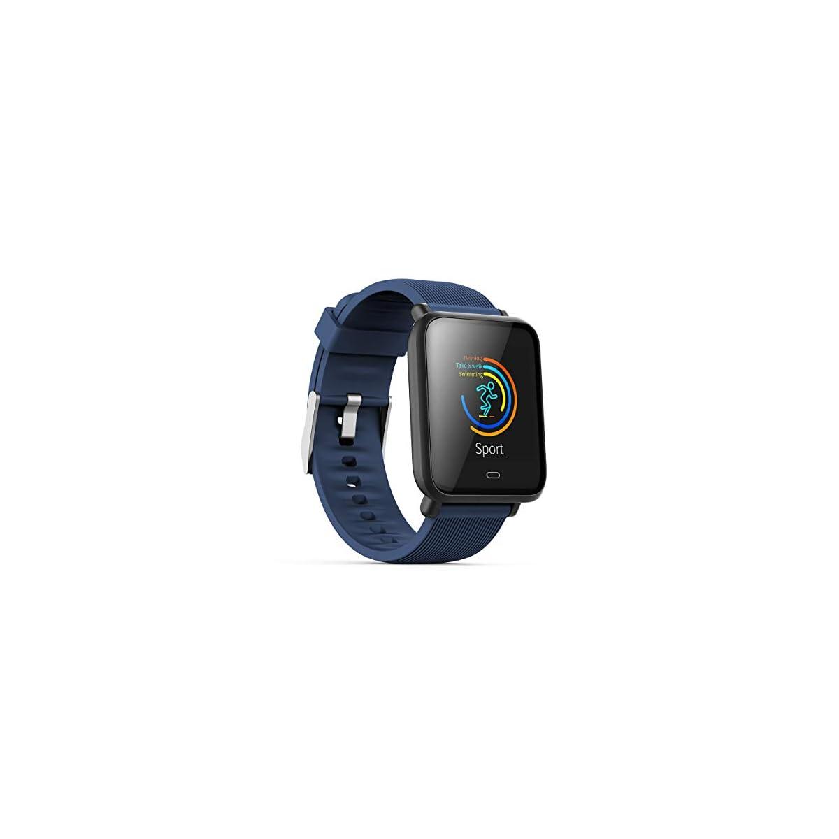 41V8gyHGQhL. SS1200  - Teepao monitor de ritmo cardíaco, podómetro, reloj inteligente impermeable con monitor de presión arterial, contador de pasos, seguimiento del sueño, reloj inteligente de pantalla grande para hombres y mujeres