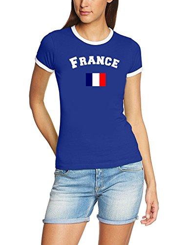Frankreich T-Shirt Damen Blau, Gr.S