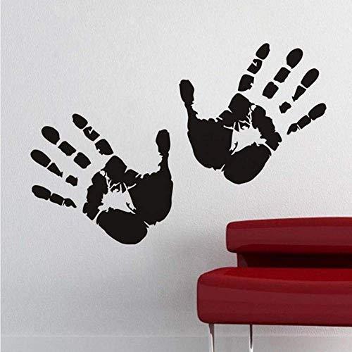 Zwei Hände Wandaufkleber Handprints Theme Wallpaper für Kinderzimmer Halloween Auto Fenster DIY Home Decor